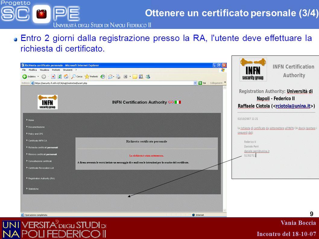 Ottenere un certificato personale (3/4)