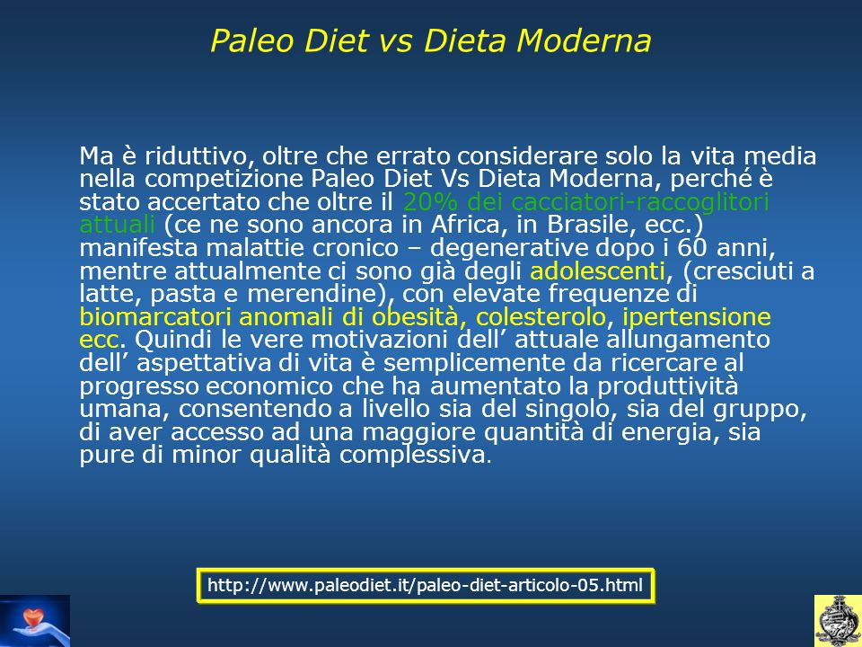 Paleo Diet vs Dieta Moderna