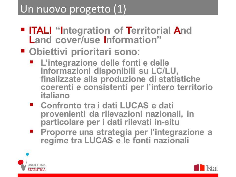 Un nuovo progetto (1)ITALI Integration of Territorial And Land cover/use Information Obiettivi prioritari sono: