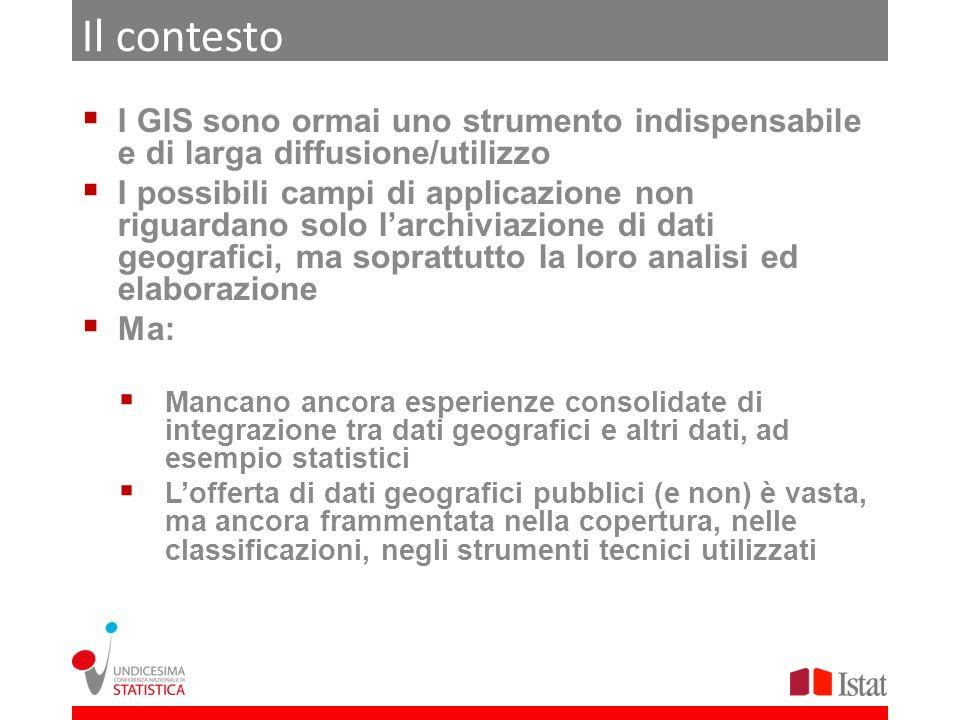 Il contesto I GIS sono ormai uno strumento indispensabile e di larga diffusione/utilizzo.