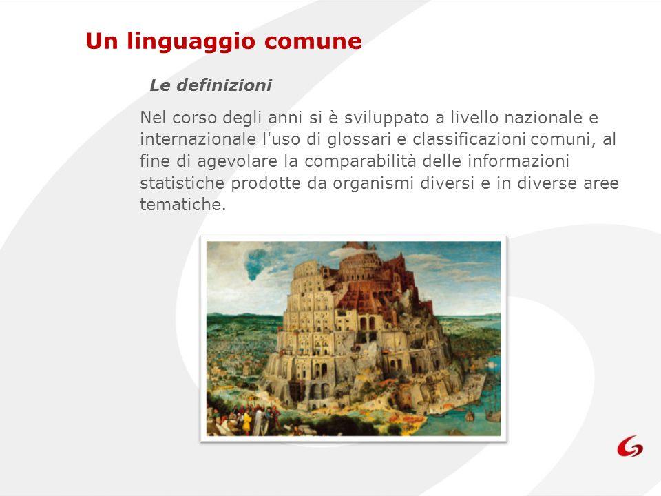 Un linguaggio comune Le definizioni