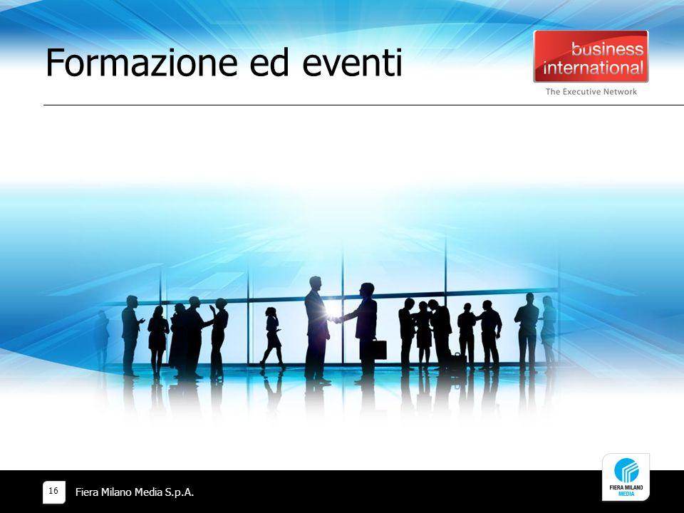 Formazione ed eventi Fiera Milano Media S.p.A.