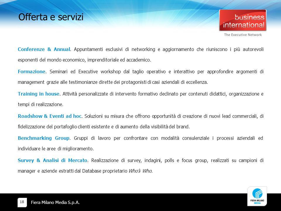 Offerta e servizi