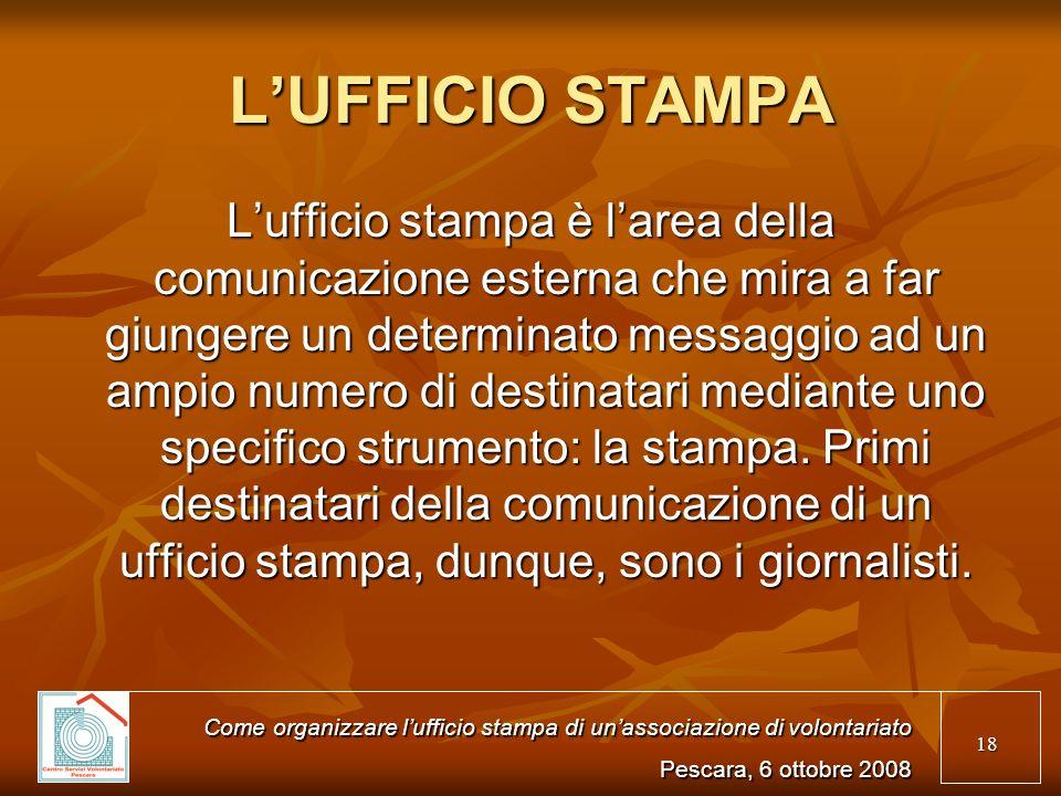 L'UFFICIO STAMPA
