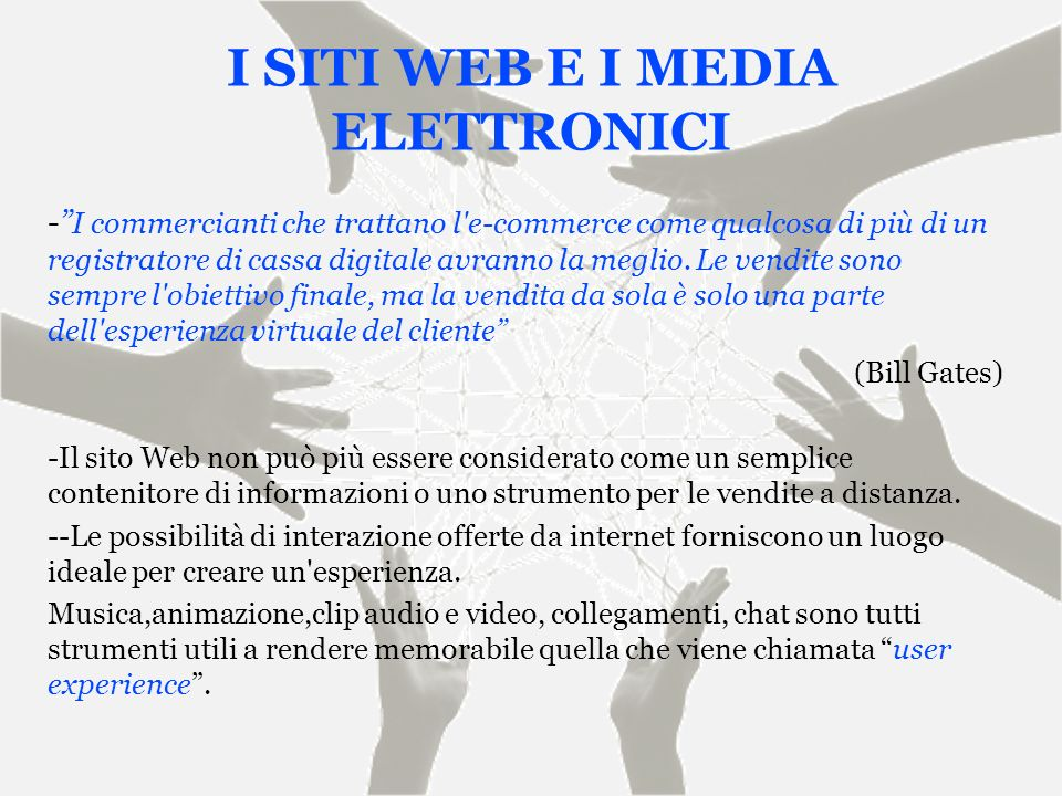 I SITI WEB E I MEDIA ELETTRONICI