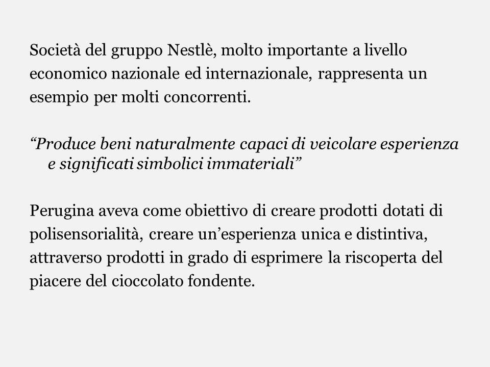 Società del gruppo Nestlè, molto importante a livello economico nazionale ed internazionale, rappresenta un esempio per molti concorrenti.