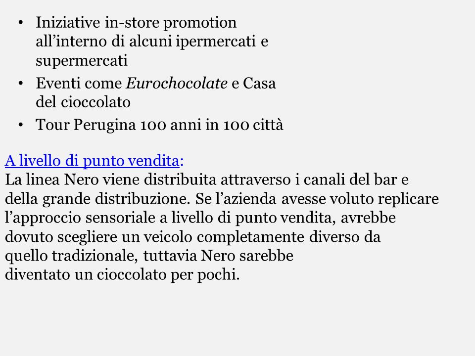Iniziative in-store promotion all'interno di alcuni ipermercati e supermercati
