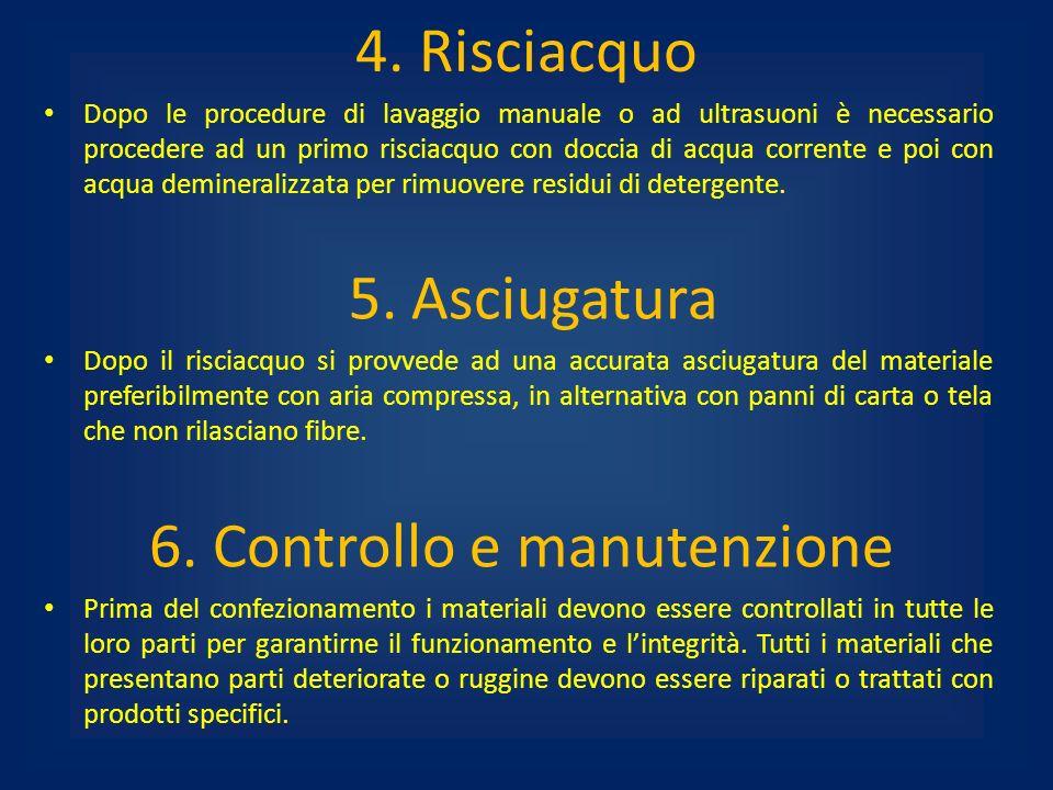 6. Controllo e manutenzione