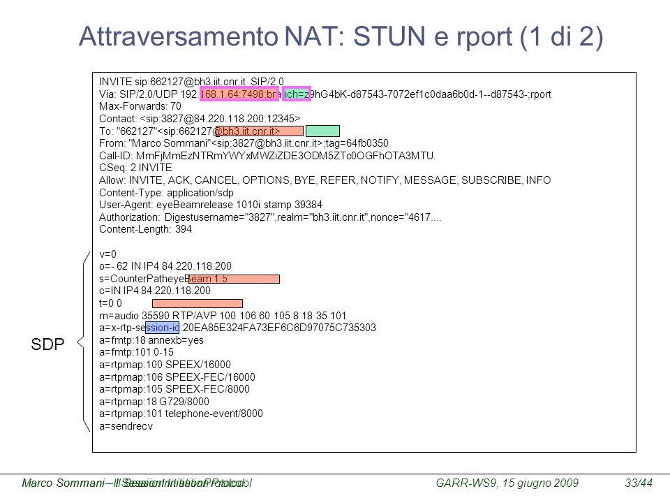 Attraversamento NAT: STUN e rport (1 di 2)