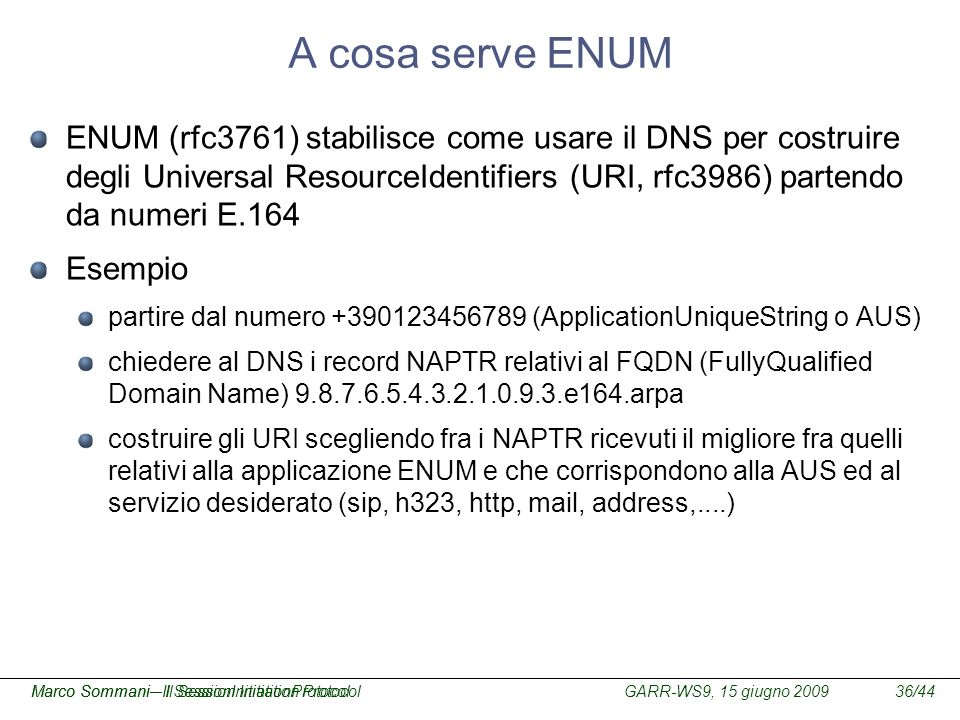 A cosa serve ENUM