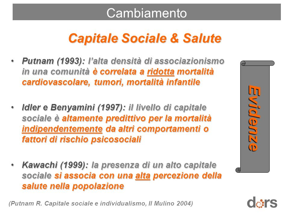 Capitale Sociale & Salute