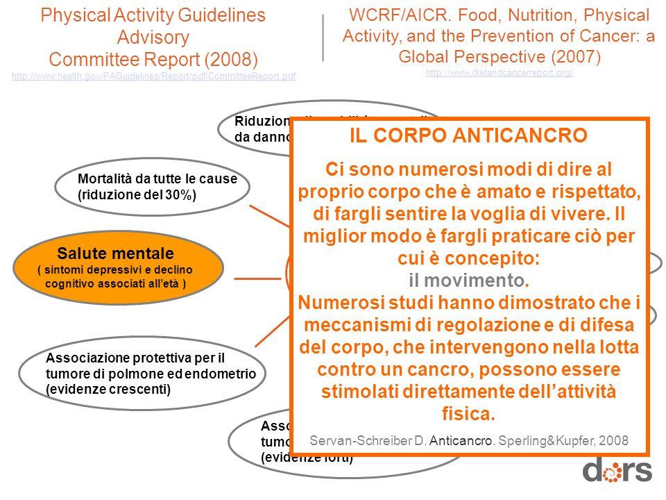 Attività fisica e benefici per la salute (evidenze)