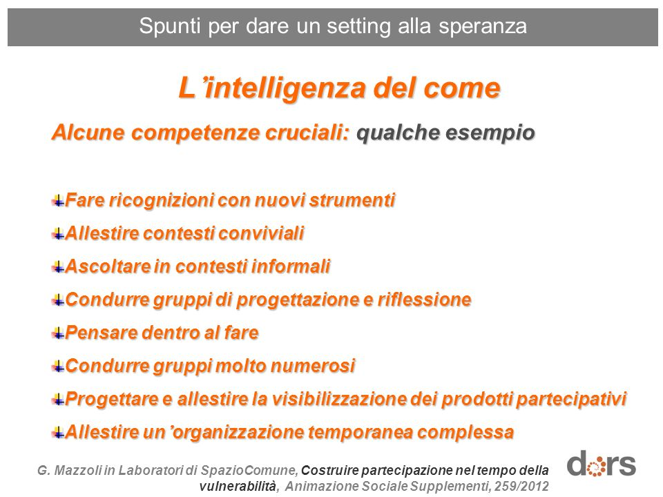 L'intelligenza del come