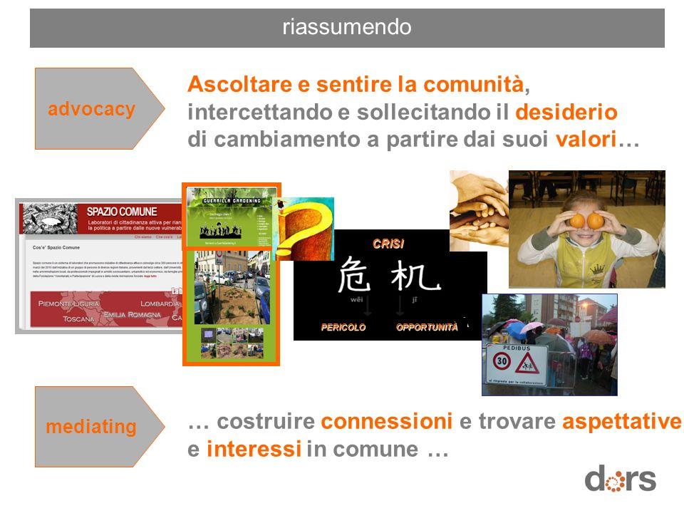 … costruire connessioni e trovare aspettative e interessi in comune …