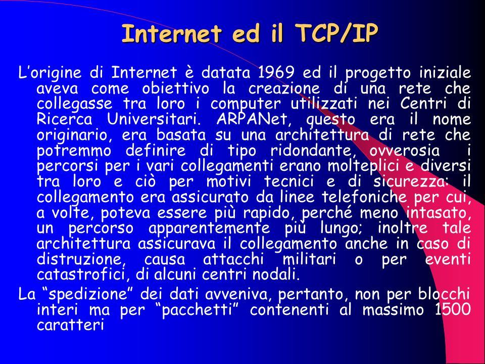 Internet ed il TCP/IP