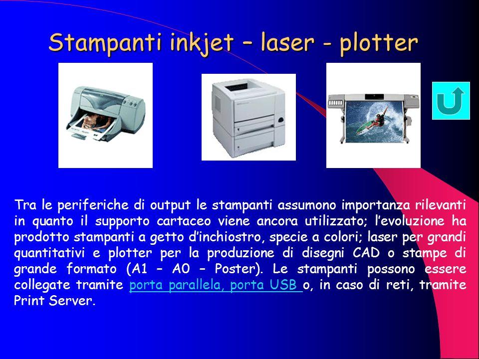 Stampanti inkjet – laser - plotter
