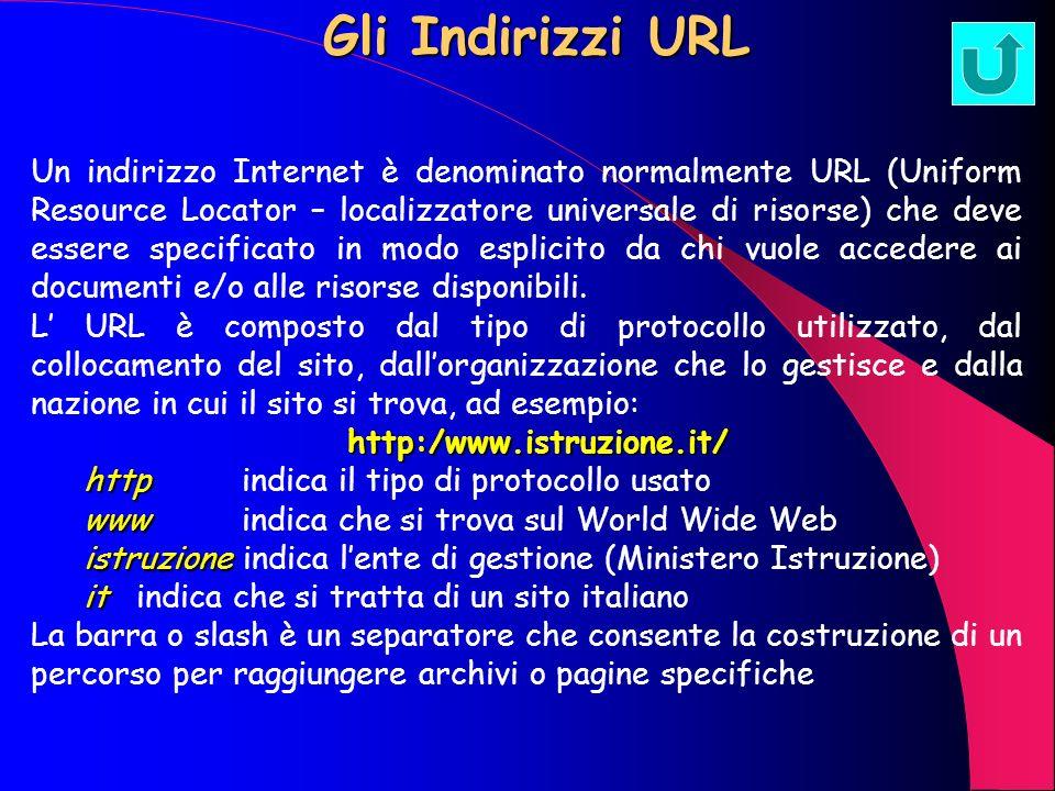 Gli Indirizzi URL