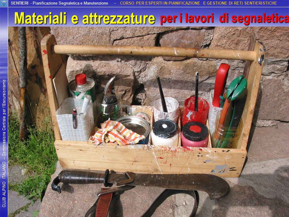 Materiali e attrezzature