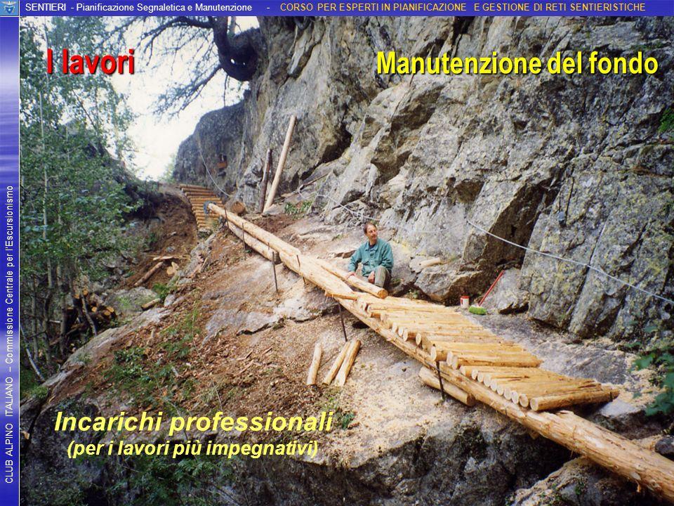 Incarichi professionali (per i lavori più impegnativi)