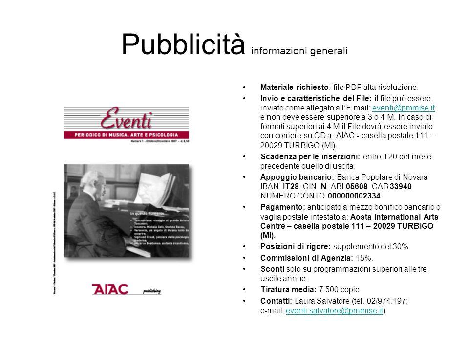 Pubblicità informazioni generali