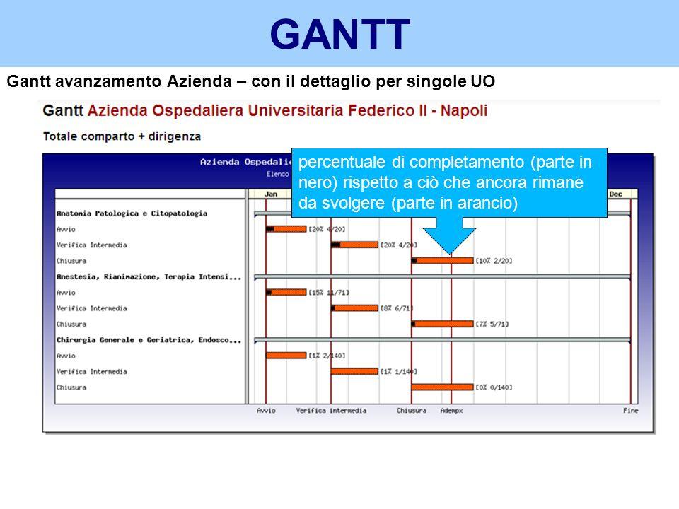 GANTT Gantt avanzamento Azienda – con il dettaglio per singole UO