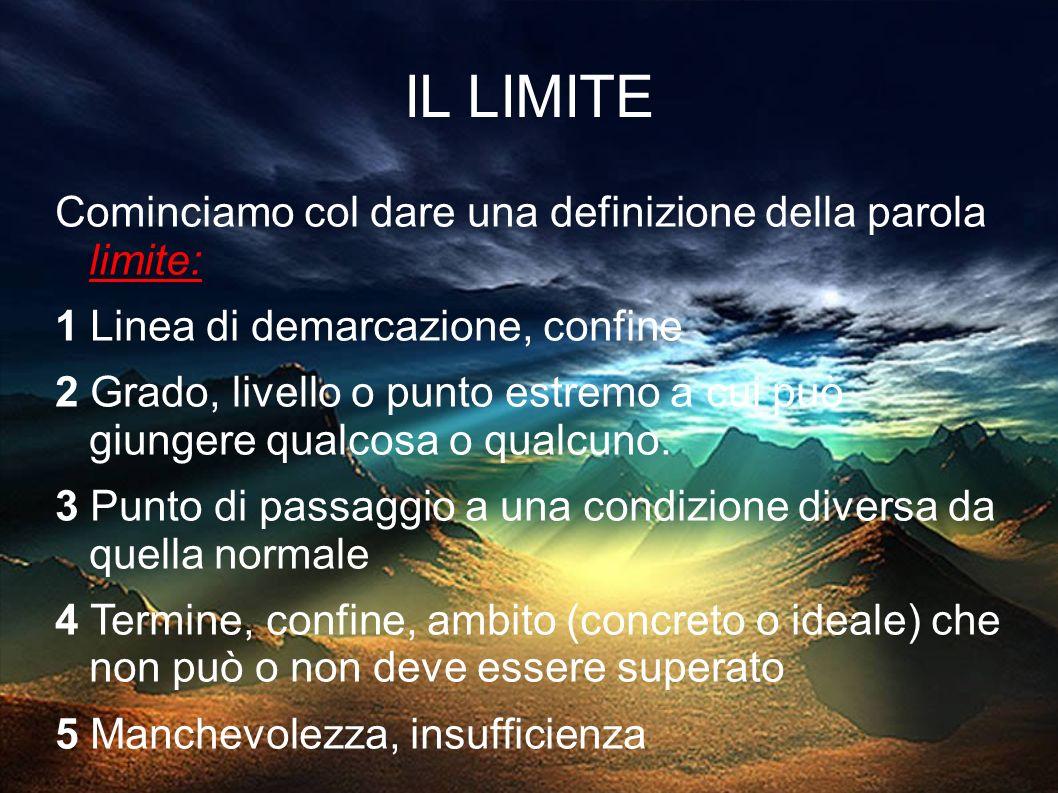 IL LIMITE Cominciamo col dare una definizione della parola limite: