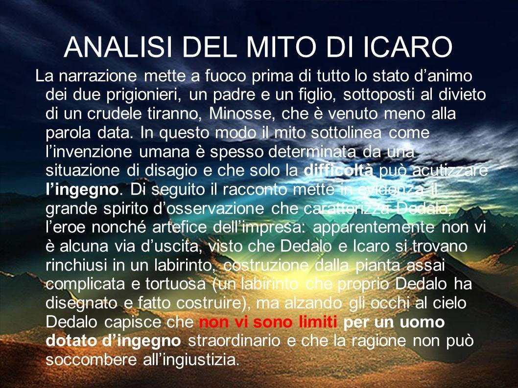 ANALISI DEL MITO DI ICARO