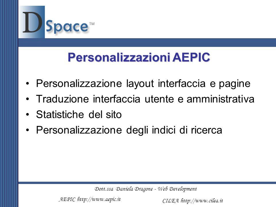 Personalizzazioni AEPIC