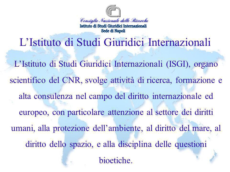 L'Istituto di Studi Giuridici Internazionali