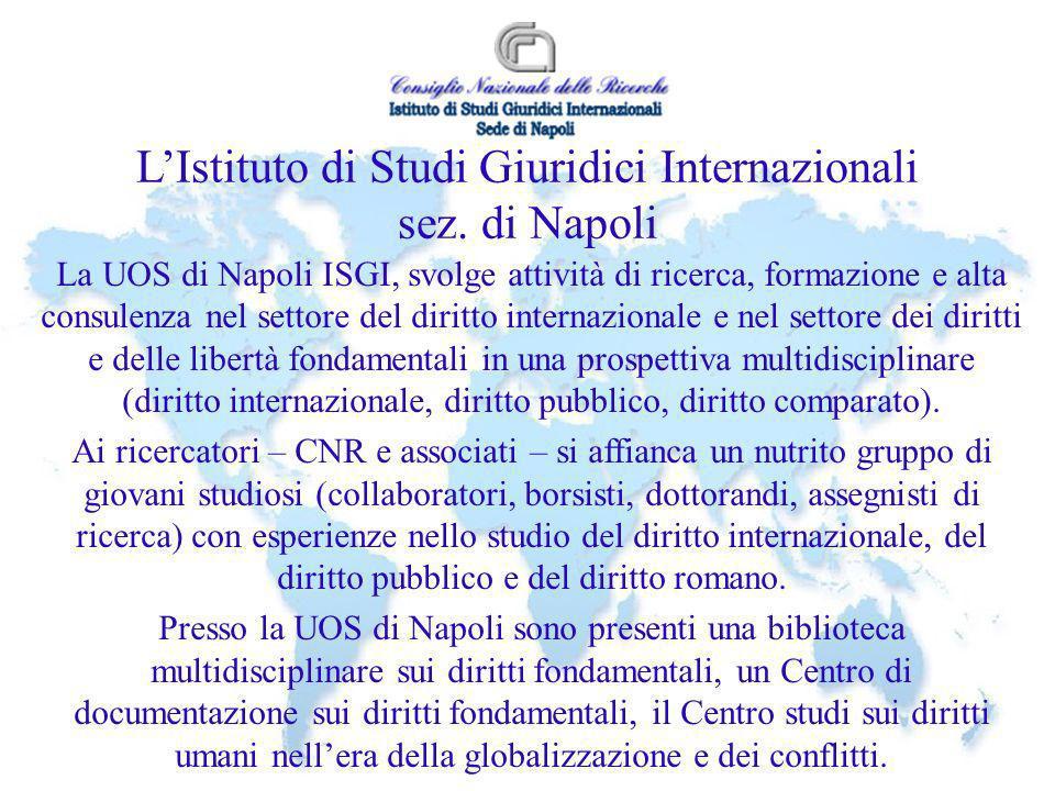 L'Istituto di Studi Giuridici Internazionali sez. di Napoli