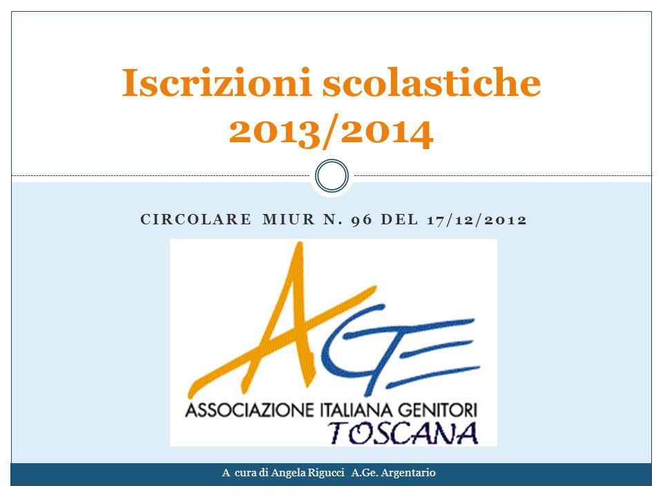 Iscrizioni scolastiche 2013/2014