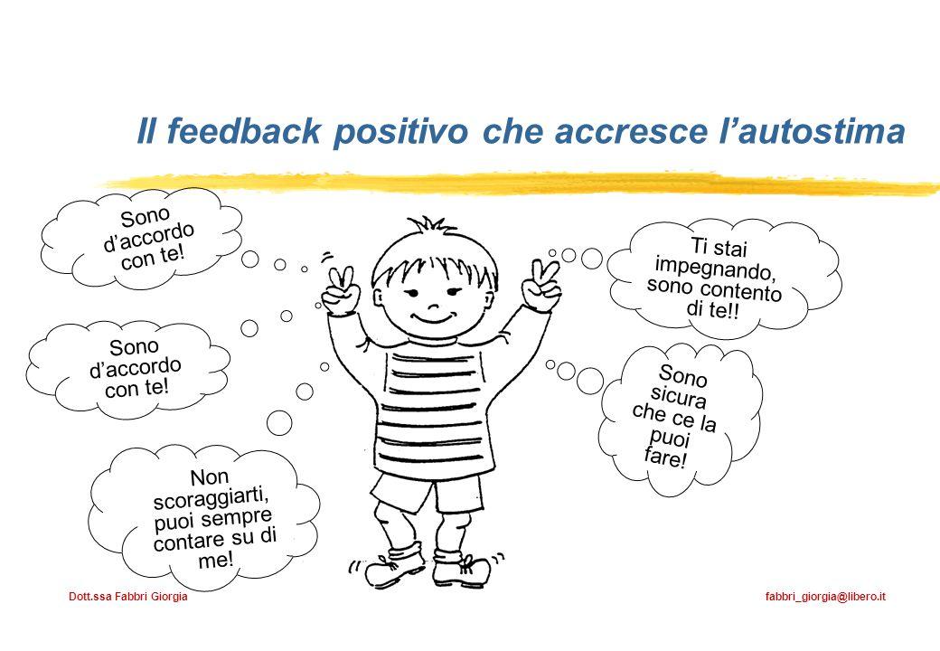 Il feedback positivo che accresce l'autostima