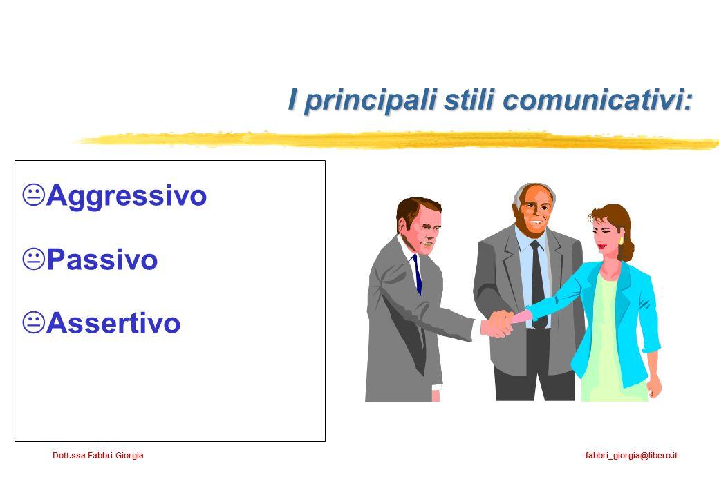 I principali stili comunicativi: