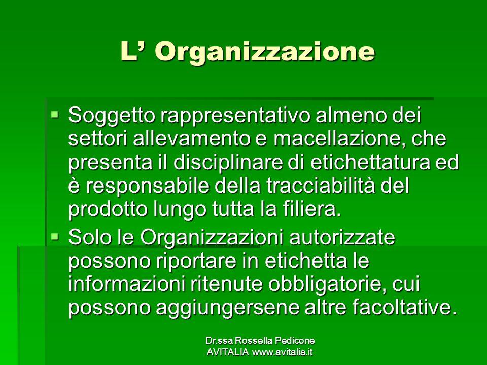 Dr.ssa Rossella Pedicone AVITALIA www.avitalia.it