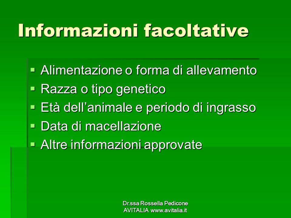Informazioni facoltative