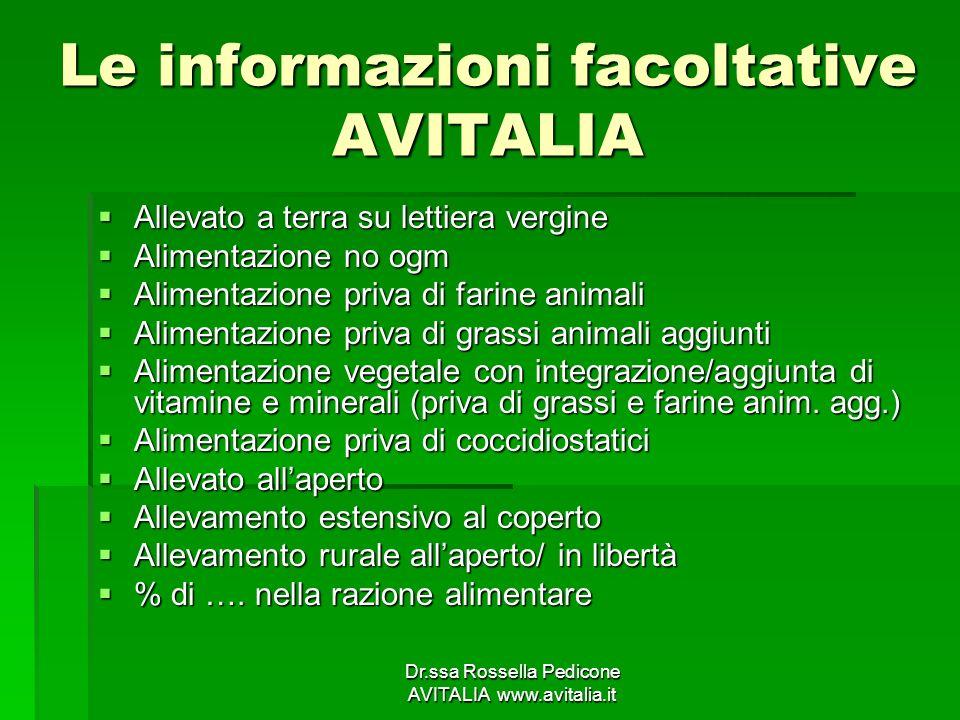 Le informazioni facoltative AVITALIA