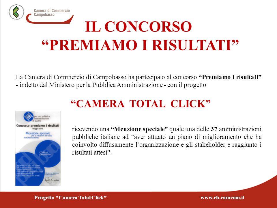 PREMIAMO I RISULTATI Progetto Camera Total Click www.cb.camcom.it