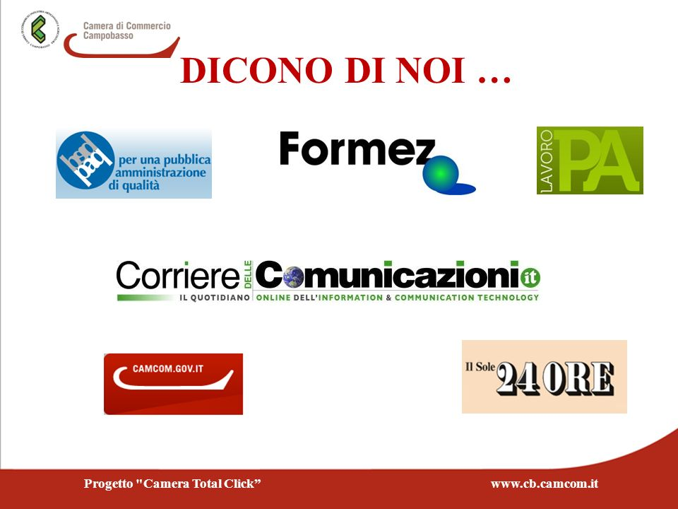 Progetto Camera Total Click www.cb.camcom.it