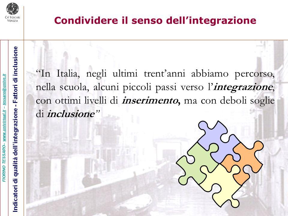Condividere il senso dell'integrazione