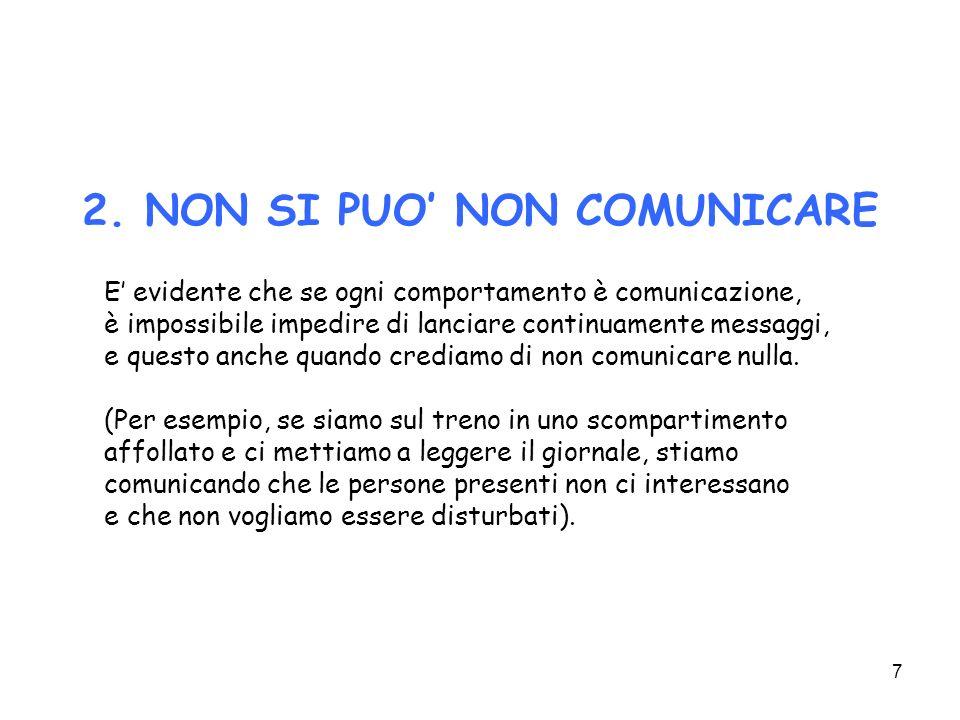 2. NON SI PUO' NON COMUNICARE