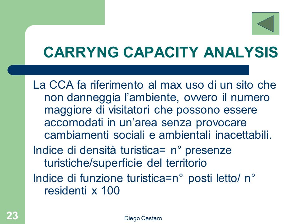 CARRYNG CAPACITY ANALYSIS