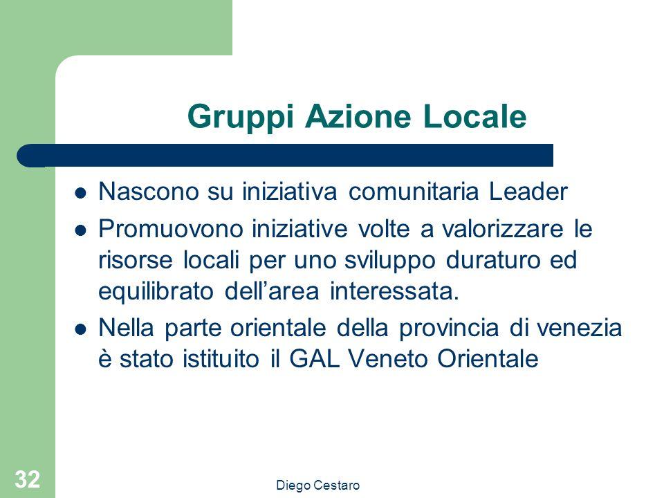 Gruppi Azione Locale Nascono su iniziativa comunitaria Leader