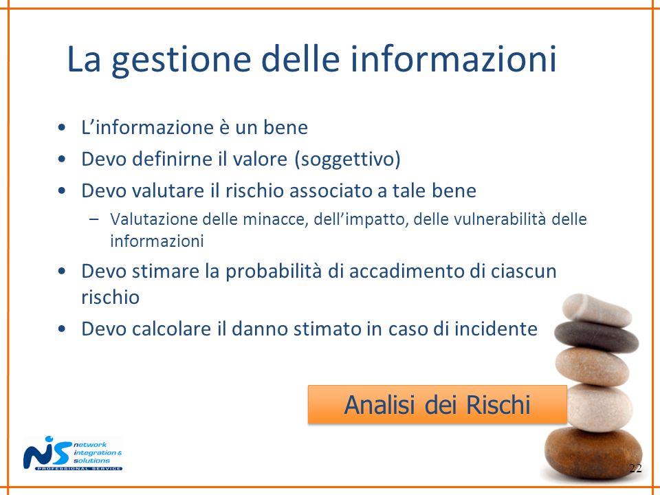 La gestione delle informazioni