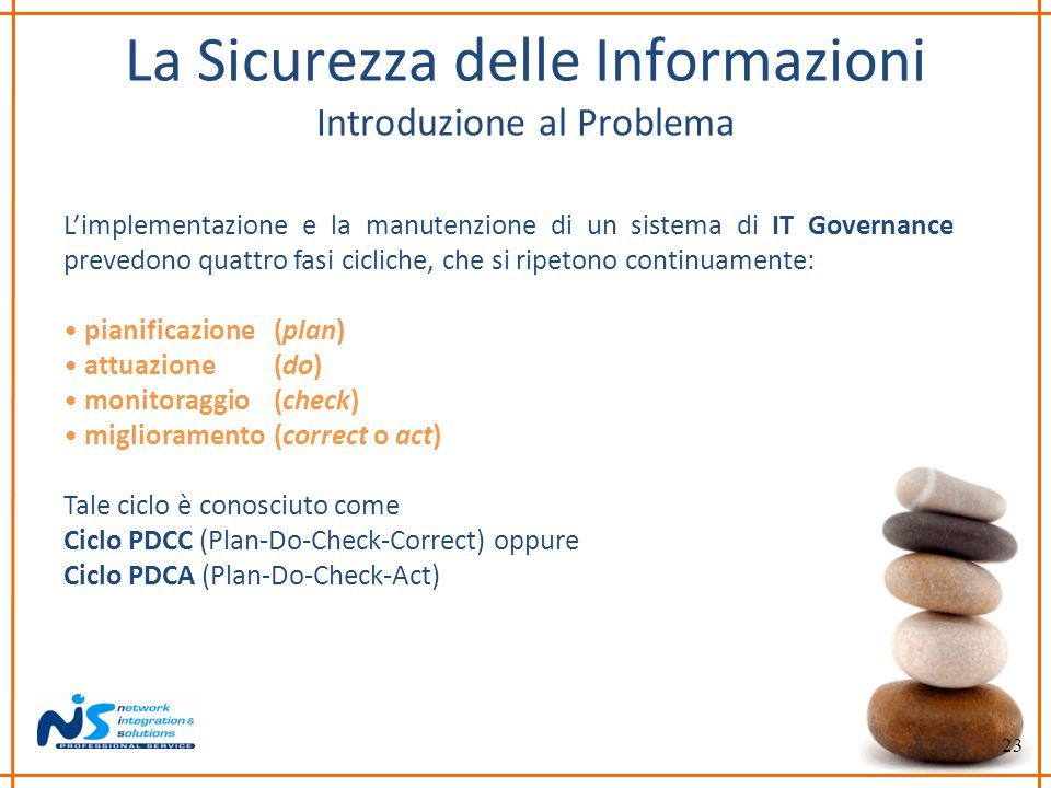 La Sicurezza delle Informazioni Introduzione al Problema