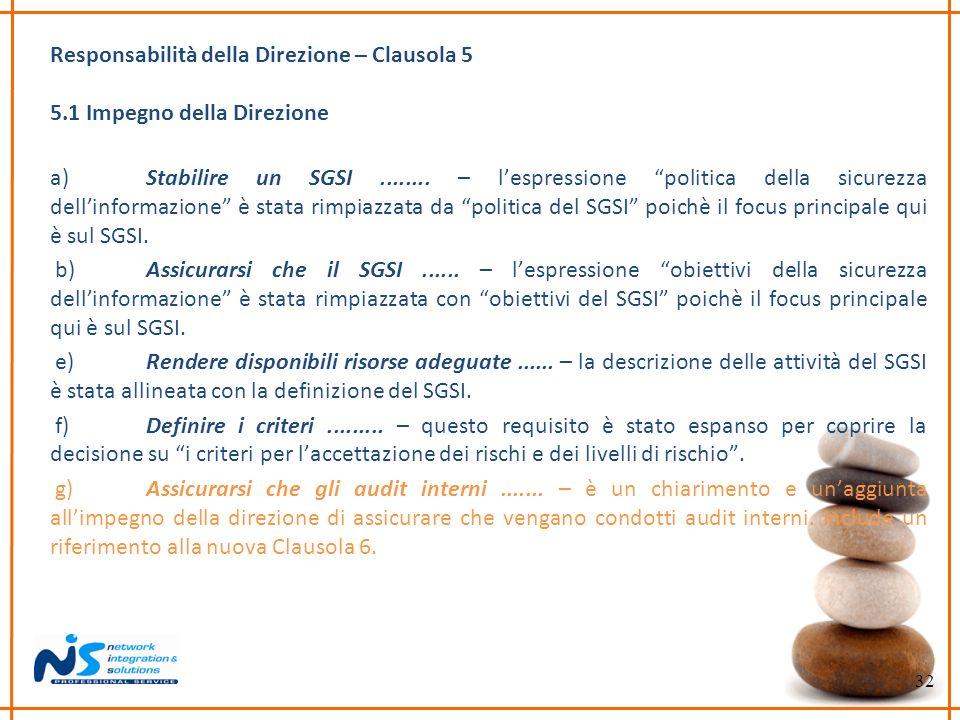 Responsabilità della Direzione – Clausola 5
