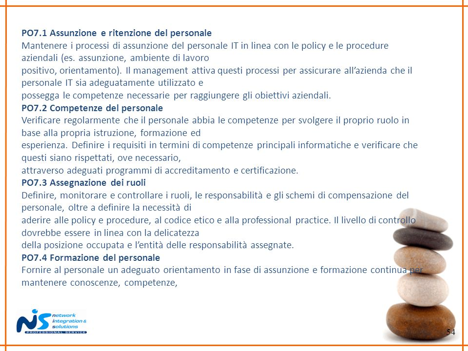 PO7.1 Assunzione e ritenzione del personale