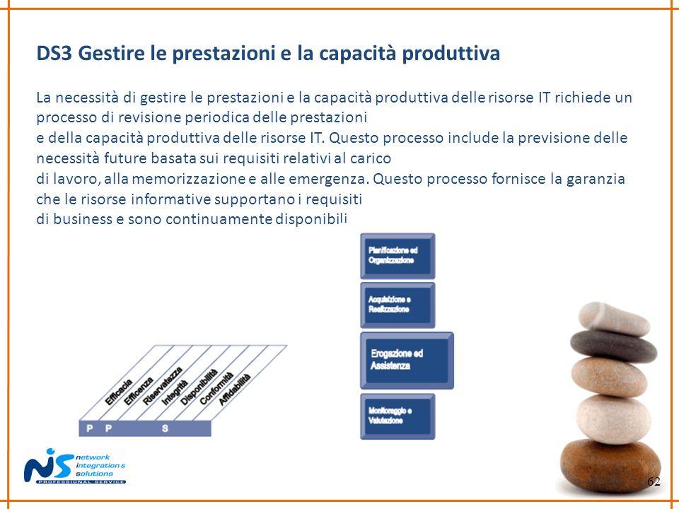 DS3 Gestire le prestazioni e la capacità produttiva