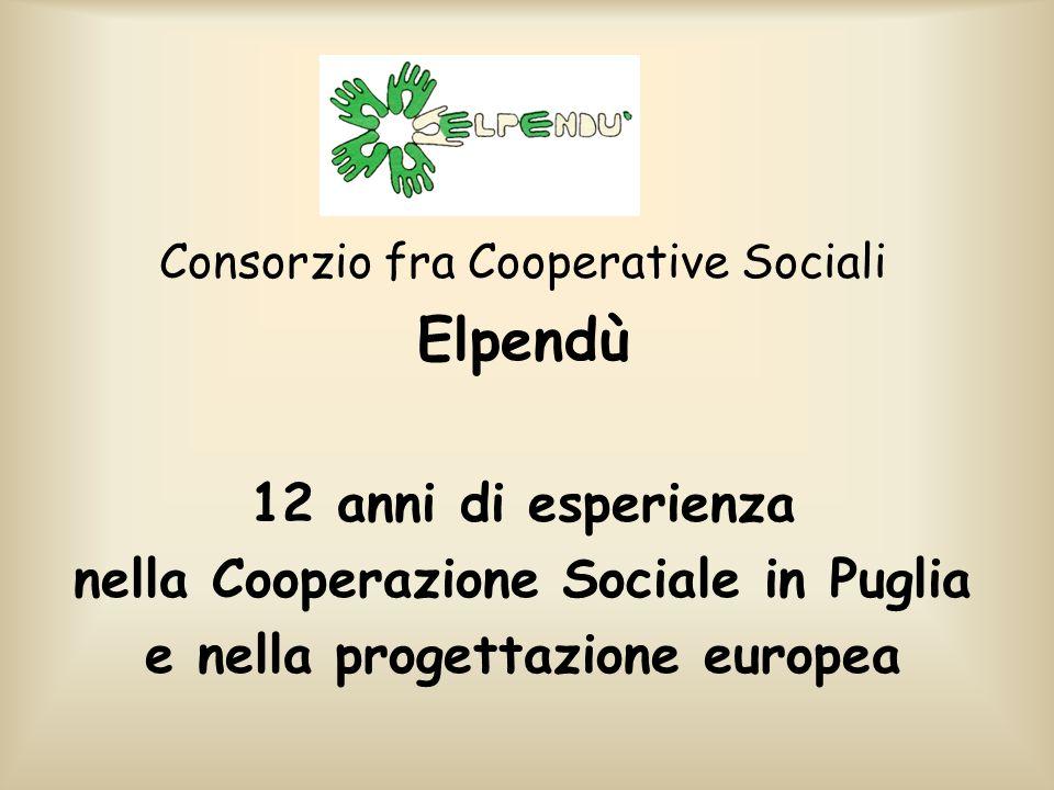 nella Cooperazione Sociale in Puglia e nella progettazione europea