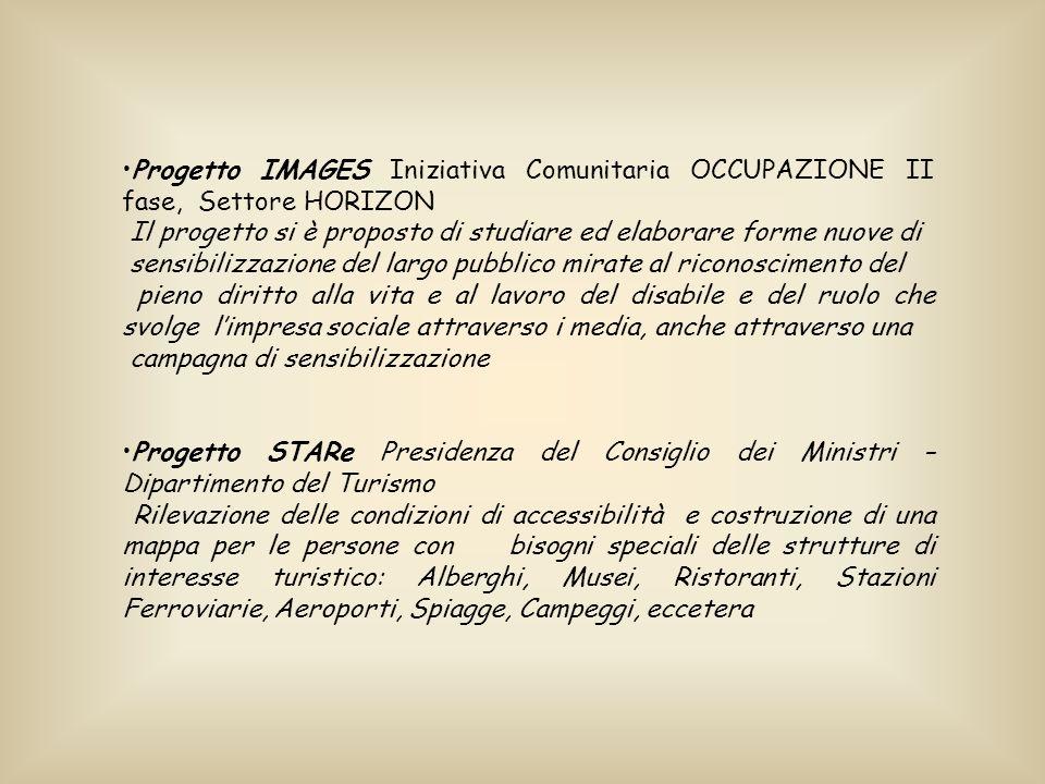 Progetto IMAGES Iniziativa Comunitaria OCCUPAZIONE II fase, Settore HORIZON