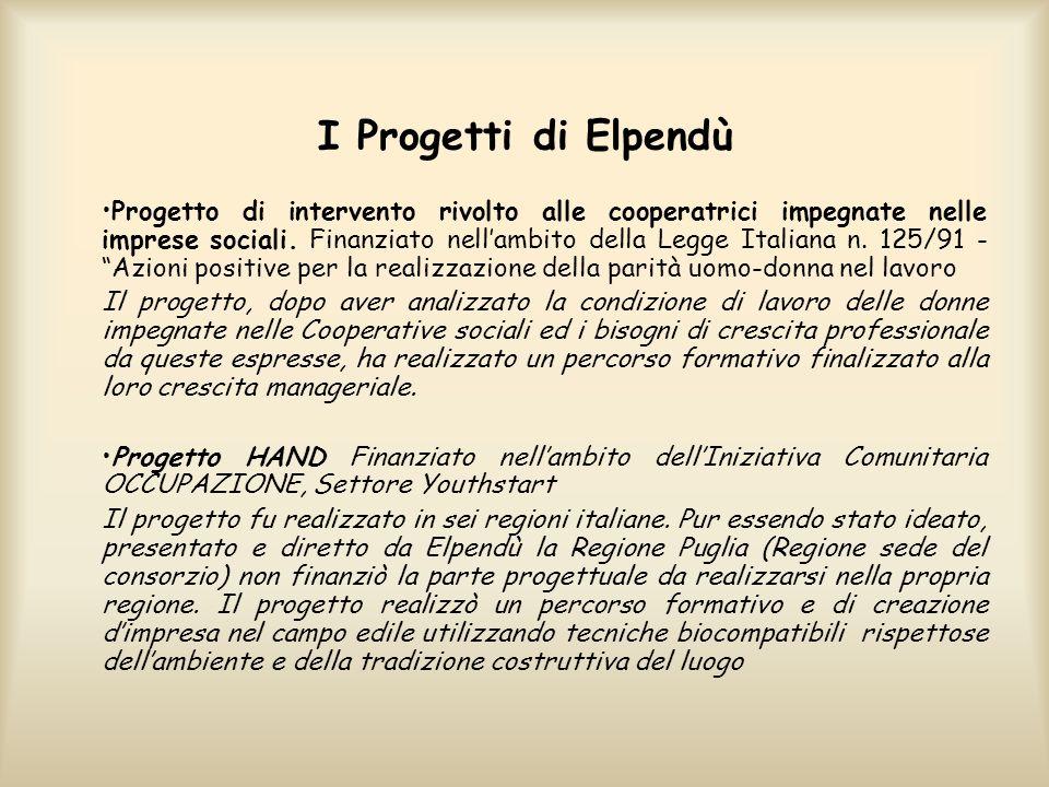 I Progetti di Elpendù